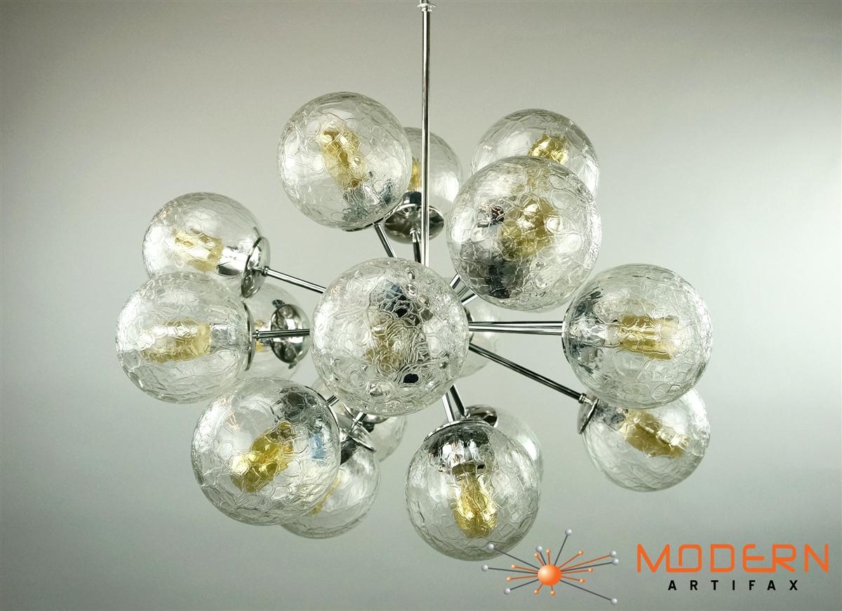 Sputnik Chandelier Polished Chrome 28\' in diameter with 18 arms