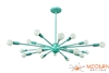 Custom Sea Foam Green Sputnik Chandelier Flat Shape