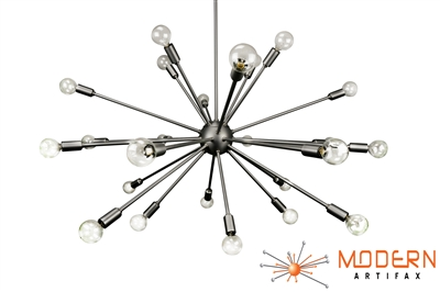 Satin Steel Sputnik Chandelier