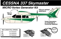 Cessna 336 and 337 Skymaster Micro Vortex Generators
