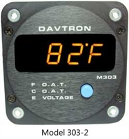 Davtron 303 OAT (F and C) Voltage Digital Aircraft Gauge