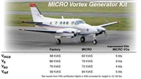 King Air 90 series Micro Vortex Generators