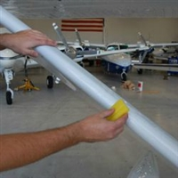 Clear Coated Aircraft Leading Edge Tape By the Foot