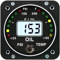 Electronics International OPT-1 Oil Pressure and Temperature Gauge