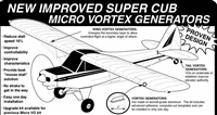 Piper PA-18 Super Cub Micro Vortex Generators