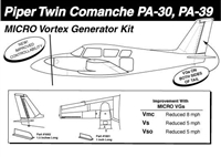 Piper Twin Comanche Micro Vortex Generators