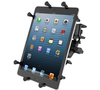 "10"" Tablet Glare Shield Clamp with Universal X-Grip Holder"