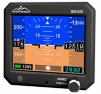 Sandia Aerospace SAI 340 Quattro Four-in-One Standby Instrument