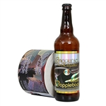 4.75 x 7.00 Custom-Printed Craft Beer Labels for 22 oz. Bomber Bottles with Silver Metallized paper with Gloss Varnish