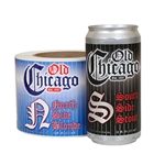3.50 x 8.0 Custom-Printed Craft Beer Labels for 12 oz. Cans printed on Silver Metallizied Paper with Gloss Overlamination