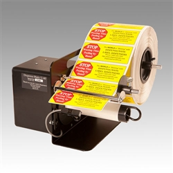 "Dispensa-Matic U-60 Label Dispenser is a heavy-duty, semi-automatic electric label dispenser for labels from 0.375"" to 6"" wide"