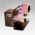"Dispensa-Matic U-45 Label Dispenser is a heavy-duty, semi-automatic electric label dispenser for labels from 0.375"" to 4.5"" wide"