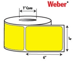 "Yellow Zebra 4"" x 6"" Direct Thermal Labels - 1"" Cores"