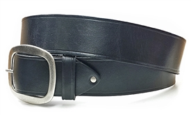 "1.5"" Leather Belt - Black"