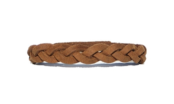 Crazy Horse Tan Leather Braid Bracelet
