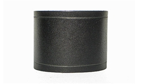 "2 1/4"" Wide Black Leather Cuff"