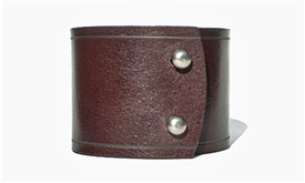 "2 1/4"" Wide Leather Cuff / Brown"