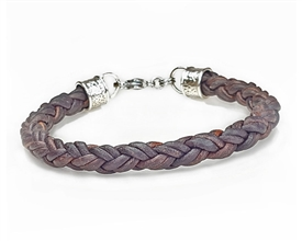 Brown Braided Leather Rope Bracelet