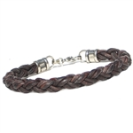 """Braided Leather Rope"" Bracelet- BROWN"