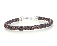 Skinny BROWN Braided Leather Bracelet