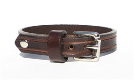 "1/2"" BROWN Leather Bracelet"