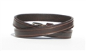 "Marquee 1/2"" Double Wrap Bracelet - Brown"