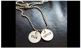 Custom Stamped Silver Charm and Necklace