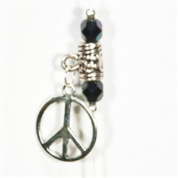 Peace Sign in Black Velvet
