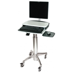 Monitor Cart with Mouse Tray