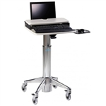 Laptop Cart with Laptop Riser and Mouse Tray