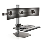Triple Monitor Sit Stand Workstation