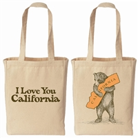 I Love You California Bear Canvas Tote Bag