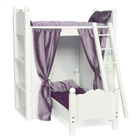 18-Inch Doll Furniture - Bunk Bed with Shelves and Ladder - fits American Girl ® Dolls