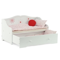 18-Inch Doll Furniture - Day Bed with Trundle Storage - fits American Girl ® Dolls