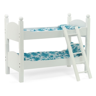 18-Inch Doll Furniture - White Stackable Bunk Bed with Ladder - fits American Girl ® Dolls