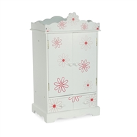 18-Inch Doll Furniture - Armoire with Floral Pattern - fits American Girl ® Dolls