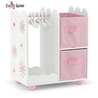 18-Inch Doll Furniture - Open Wardrobe Closet - fits American Girl ® Dolls