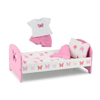 18-inch Doll Furniture - Butterfly Collection Single Bed (Includes Bedding) - fits American Girl ® Dolls
