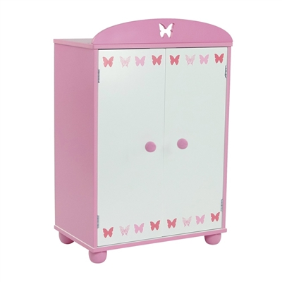 18-inch Doll Furniture - Butterfly Collection Armoire (Includes 5 Clothes Hangers) - fits American Girl ® Dolls