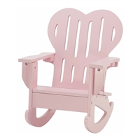 18-Inch Doll Furniture - Pink Adirondack Rocking Chair - fits American Girl ® Dolls