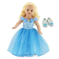 18-inch Doll Clothes - Fabulous Cinderella Inspired Ball Gown - fits American Girl ® Dolls
