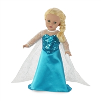 18-inch Doll Clothes - Princess Elsa Frozen Inspired Dress with Shoes - fits American Girl ® Dolls