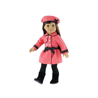 18-Inch Doll Clothes - Traveling Coat Outfit with Pants, Hat, and Boots - fits American Girl ® Dolls