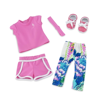 18-Inch Doll Clothes - Running/Exercise Outfit with Sneakers - fits American Girl ® Dolls