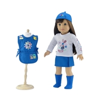 18-Inch Doll Clothes - Daisy Girl Scout-Inspired Outfit with Accessories - fits American Girl ® Dolls