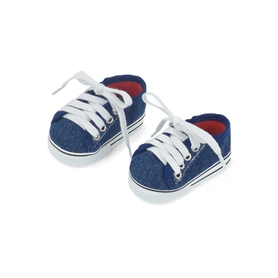 18 Inch Doll Clothes - 1 Pair Basic Denim Doll Sneakers - fits American Girl ® Dolls