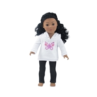 18-inch Doll Clothes - Hooded Butterfly Sweatshirt Outfit with Black Skinny Jeans - fits American Girl ® Dolls