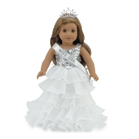 18-inch Doll Clothes - Miss USA Inspired Dress and Accessories - fits American Girl ® Dolls