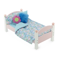 18 Inch Doll Accessories - Reversible Multi-colored Groovy Bedding Set - fits American Girl ® Dolls
