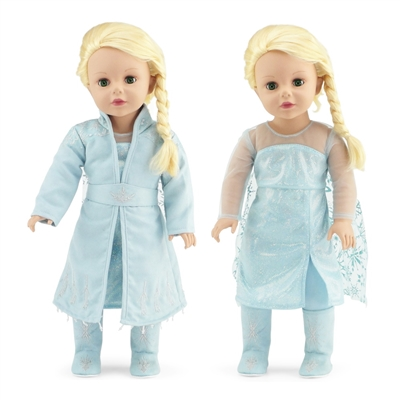 18-inch Doll Clothes - Princess Elsa Frozen 2 Inspired Dress Outfit - fits American Girl ® Dolls